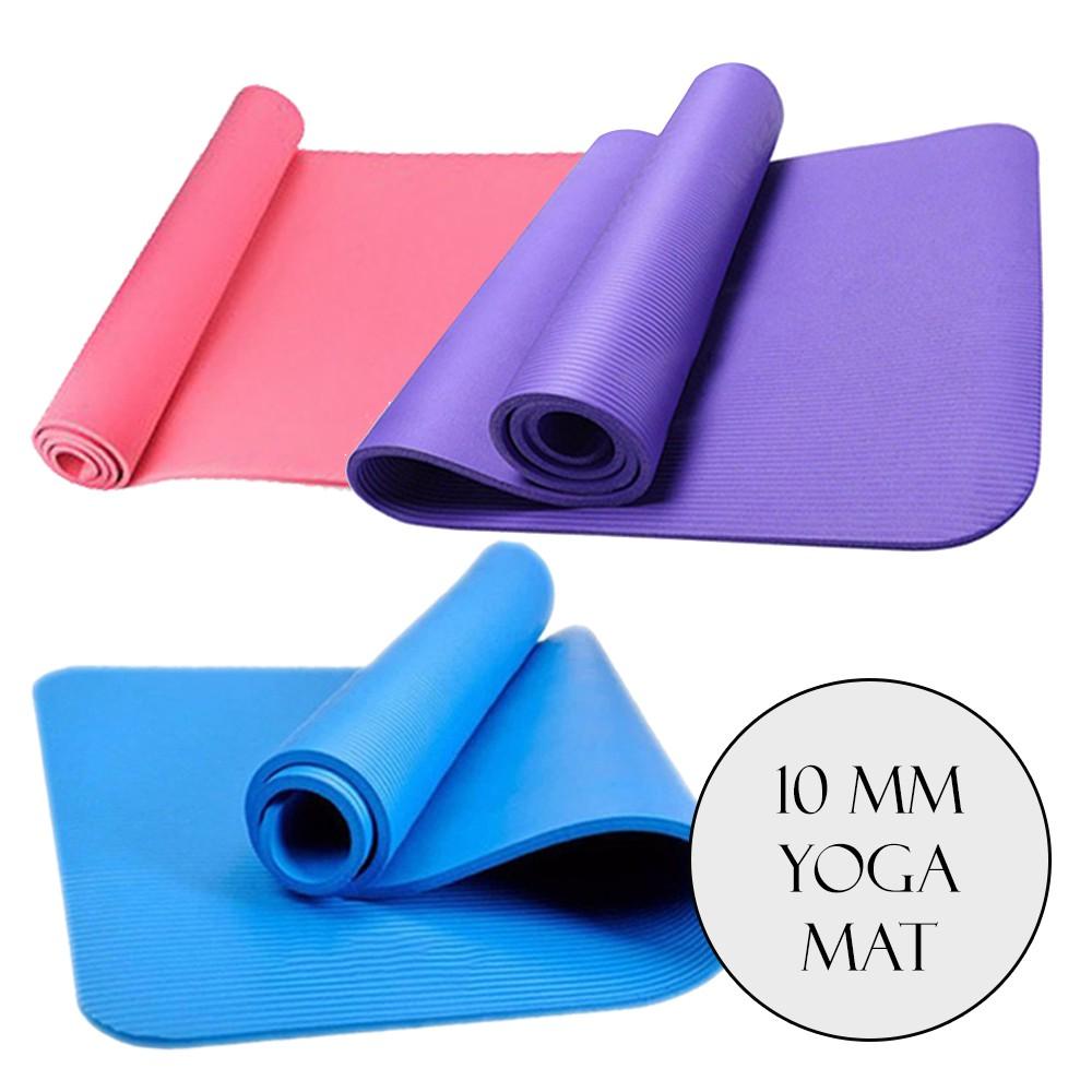 Borong Best! High Grade NBR 10mm Yoga Mat Gym Exercise Mat
