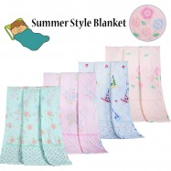 image of Summer Style Soft Silky Flannel Blanket (Random Colour)