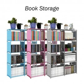 image of DIY Book Storage 5 Tier with 8 Columns