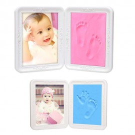 image of Borong Best! Safe Clay Baby Hand Foot Print Cast Kit Photo Frame