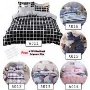 image of Premium 4 in 1 Flat Bedsheet