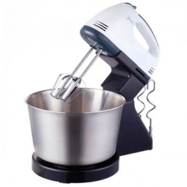 image of 7 Speed Stainless Steel Baking Hand Mixer Egg Beater with Bowl