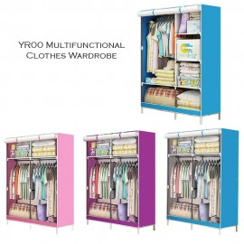 image of YR00 Multifunctional One-Piece Roll Up Curtain Clothes Wardrobe