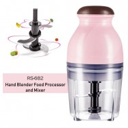 image of RS-682 Mini Electric Multipurpose Hand Blender Food Processor and Mixer