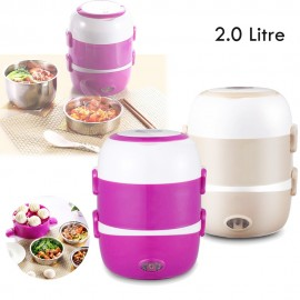 image of 3 Layer Multi Functional Food Rice Cooker (2.0 Litre) + Free MY 3 Pins Plug