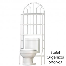 image of Z713 3 Tiers Toilet Organizer Shelves