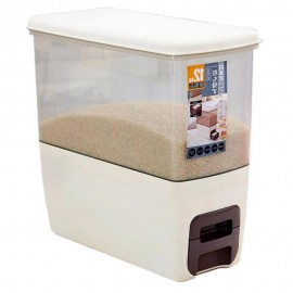 image of Borong Best! Japanese Hygienic Rice Dispenser 12KG Storage Kitchen Storage Box
