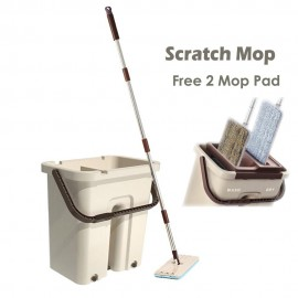 image of Borong Best! New Generation Multi-functional Scratch Mop (Wash & Dry)