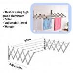 TA80 Aluminium Retractable Drying Rack Cloth Hanger