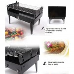 Portable Camping BBQ Stove With Tools (Rectangular Shape)