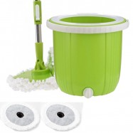 image of Japanese Style 360 Unique Design Single Bucket Spin Mop + Extra Mop Cloth