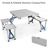 image of Outdoor Portable Aluminium Camping Picnic Table