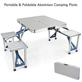 image of Outdoor Portable Aluminium Camping Picnic Table
