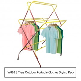 image of Borong Best! W888 3 tiers Outdoor Portable Clothes Drying Rack
