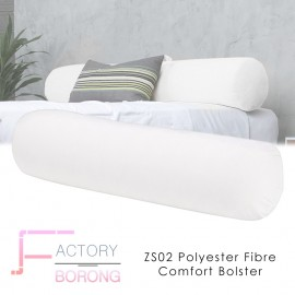 image of ZS02 High Quality Hotel Polyster Fibre Comfort Bolster - White