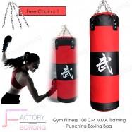 image of Borong Best! Gym Fitness 100 Cm MMA Training Punching Boxing Bag