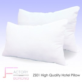 image of Buy 1 Free 1 - ZS01 Zebra Stripe High Quality Polyester Fibre Hotel Pillow