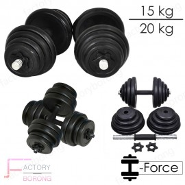 image of Borong Best! Adjustable Cast Iron Bumper Rubberised Dumbbell