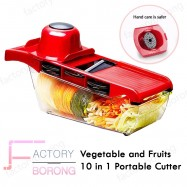 image of Borong Best! Vegetable And Fruits 10 In 1 Portable Cutter + Slicer