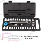 Borong Best!  AB Tools 40pcs Drive Metric Socket Wrench Set (1941)