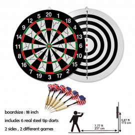 image of Borong Best! 18 Inch Dart Board Professional & Leisure Flocking Dart Board