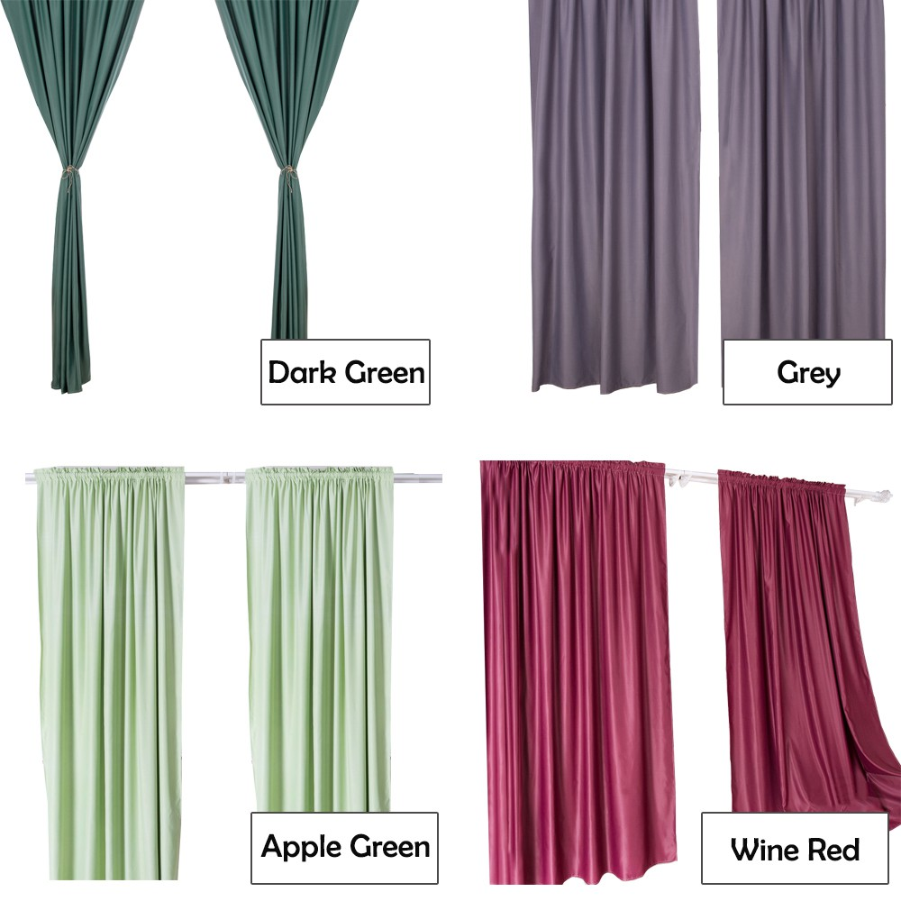 CT001 Bedroom Living Room Window Curtain - 1 Panel