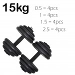 Borong Best! Adjustable Cast Iron Bumper Rubberised Dumbbell