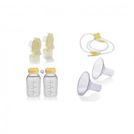 image of Medela Freestyle Breast Pump Replacement Parts Kit With 2 Breast Shield