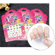 image of Little Pony Nail Sticker (2 In 1) X 2 Pcs