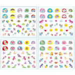 Little Pony Nail Sticker (2 In 1) X 2 Pcs