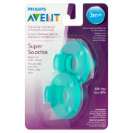 image of Avent Soothie Pacifier, 3+ Months, Green (Pack Of 2)