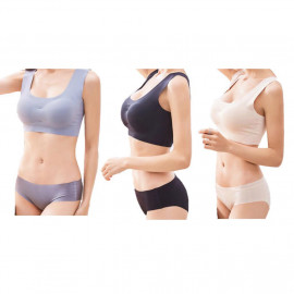 image of Yoga, Sports, Breastfeeding Seemless, Wireless And Breathable Bra