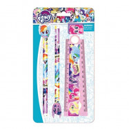 image of Little Pony Stationery Set Pencil With Eraser Top