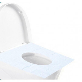 image of Disposable Waterproof Toilet Seat Covers For Travelers X 10 Pcs