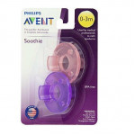 Avent Soothie Pacifiers 0-3 Months (Green, Pink/ Purple)
