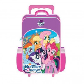 image of Little Pony Primary School Trolley Bag - Purple Colour