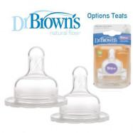 image of Dr Brown's Options Teats (Level 4) Wide Neck X 2 Pcs