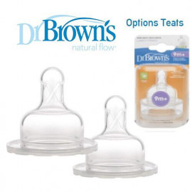 image of Dr Brown's Options Teats (Level 4) Wide Neck X 2 Pcs