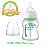 image of Dr. Brown's OPTIONS 9 Oz/ 270ml Wide PP Neck Bottle X1 Pc