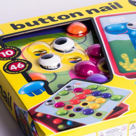 image of Button Art Mushroom Nail (preschool games kid toy)