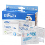 image of Dr Brown's Microwave Steam Steriliser Bags x 5 pcs