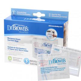 image of Dr Brown's Microwave Steam Steriliser Bags x 5 pcs
