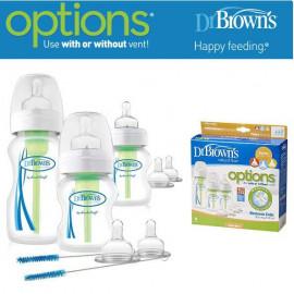 image of Dr. Brown's Options Wide Neck Baby Bottle starter kit x 3 pcs