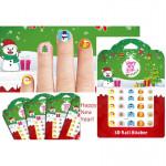 Kids Christmas n Happy New Year nail sticker x 2 pcs