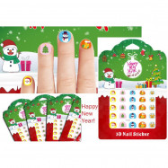 image of Kids Christmas n Happy New Year nail sticker x 2 pcs
