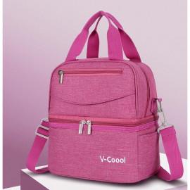 image of V-coool 2018 Premium Breastmilk Cooler Bag with Ice Pack Set