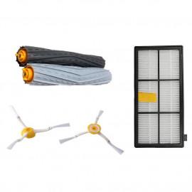 image of Parts for Irobot Roomba 800 900 series set(hepa, brush n debris extractor)