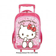 image of Sanrio Hello Kitty Trolley Bag Kindergarten Primary School