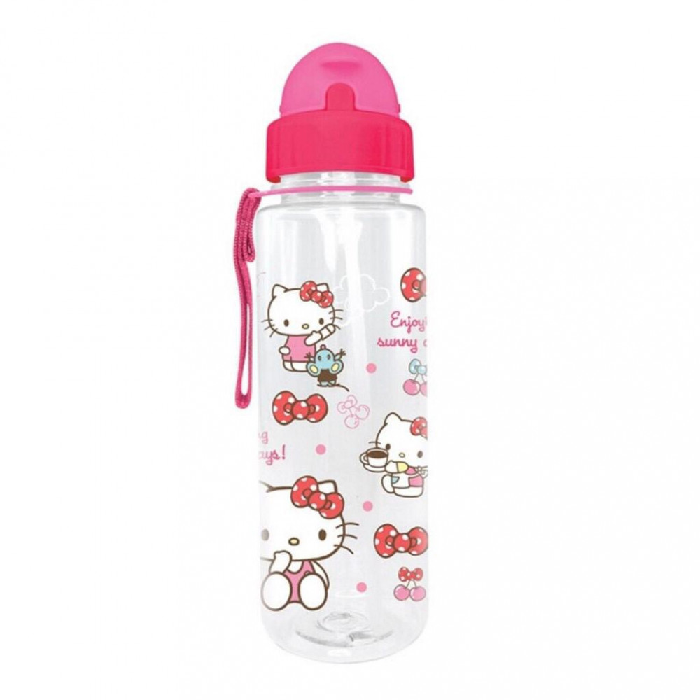 Sanrio Hello Kitty 650ML BPA Free Tritan Bottle With Straw