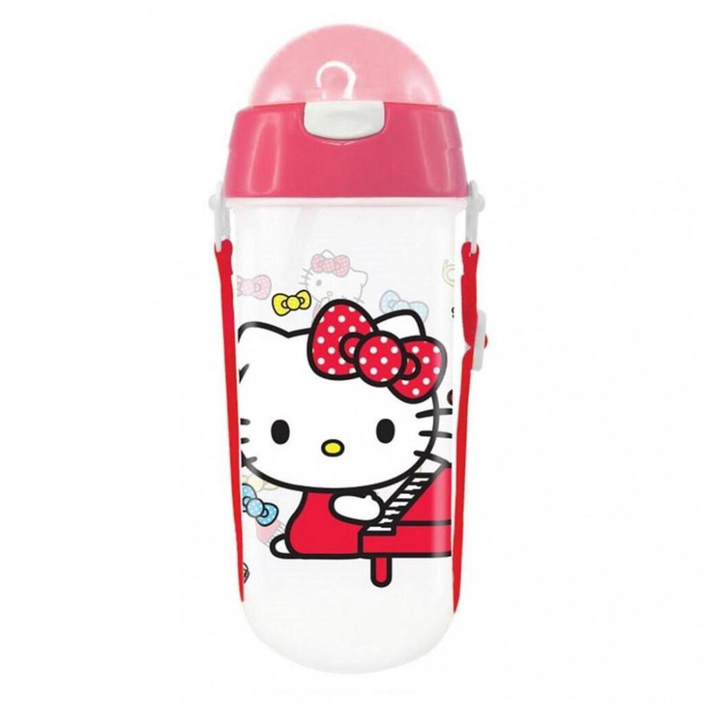 Sanrio Hello Kitty 580ML BPA Free Polypropylene Water Bottle With Straw
